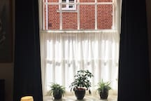 NEW! Blackout window blinds in the living room.