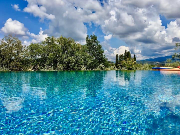 A Gourmet apartment - Tuscan villa & swimming pool