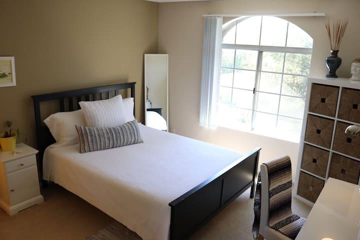 Bright clean cozy bedroom