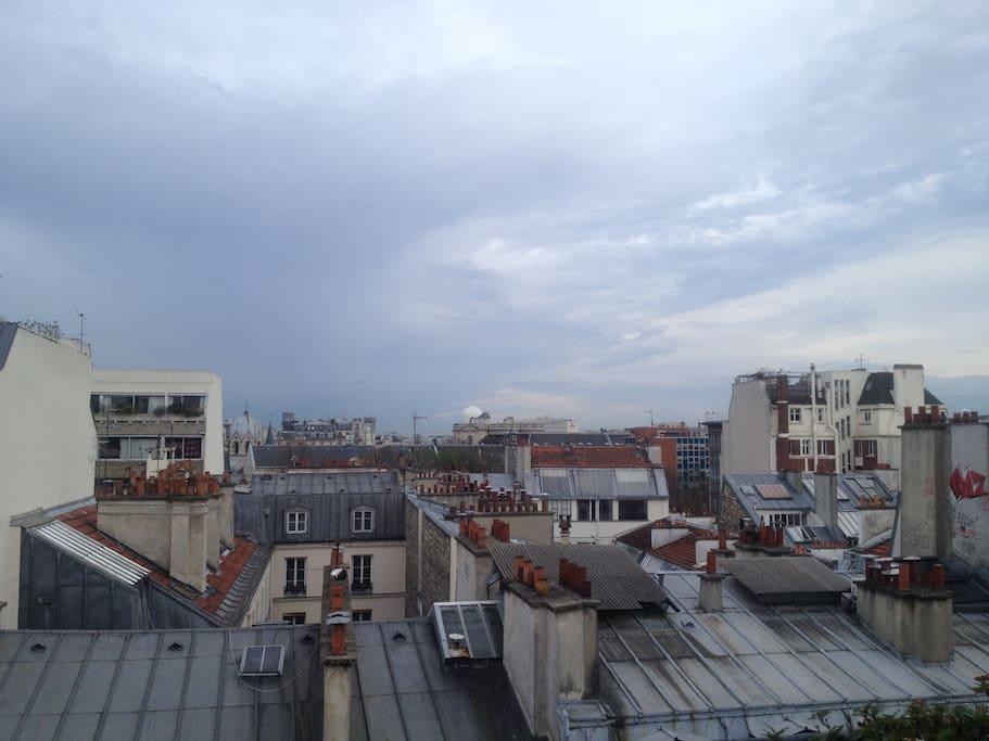 Amazing view on Paris Skyline