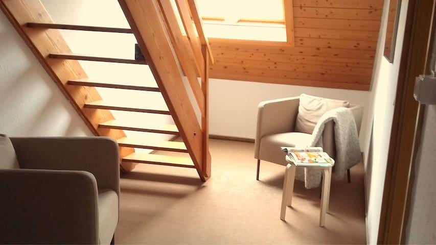 Schöne Dach Wohnung 5 Min Zentrum - Wangen im Allgäu - Appartement
