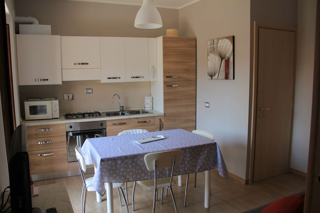 Balcone Fiorito, cucina