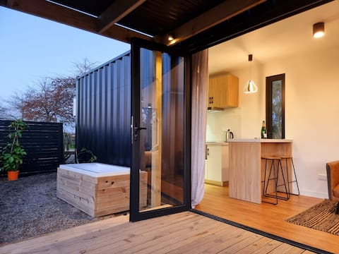 luxury container home in rural setting
