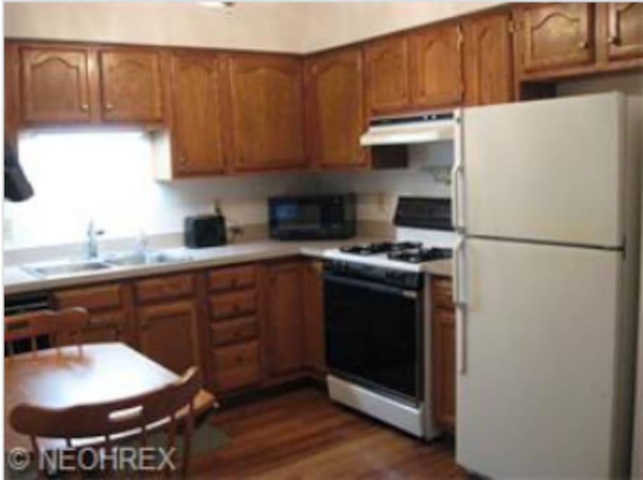 Fully stocked kitchen with all essential appliances