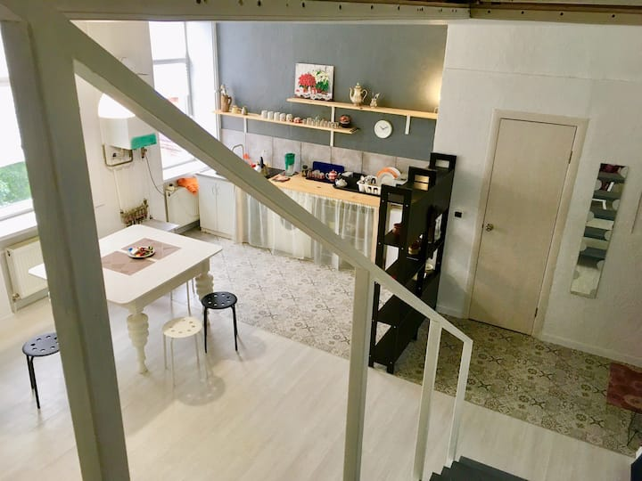 Stylish flat in center. Two bedrooms