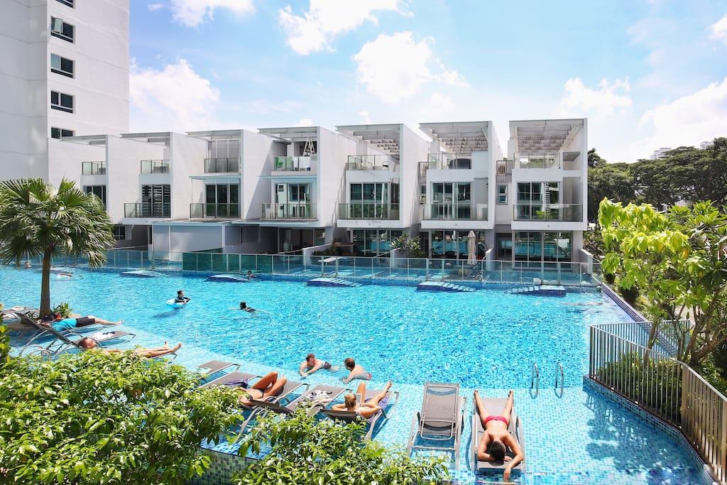 swimming pool游泳池