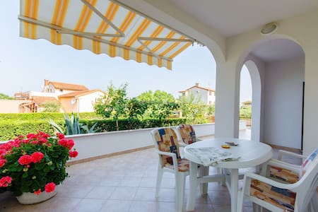 Two Bedroom Apartment, in Porec, Terrace