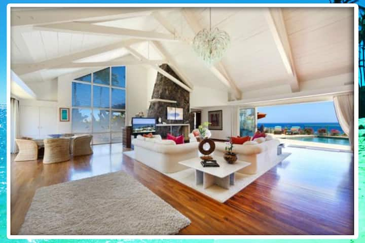 Kahala Oceanfront Villa with Pool sleeps 14
