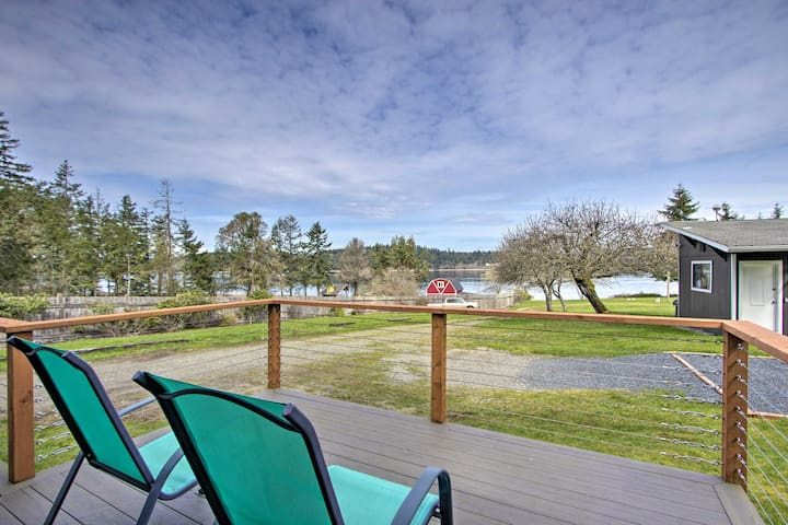 NEW! Anderson Island Home w/ Deck - Steps to Water