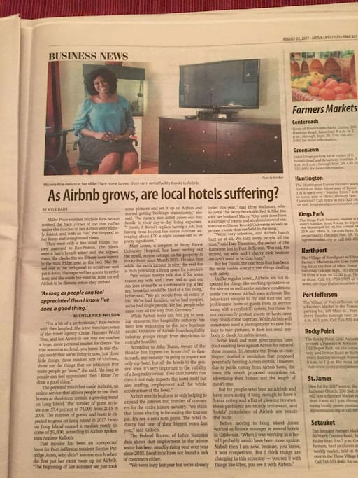 "Our local ""Airbnb"" makes the headlines!!!"