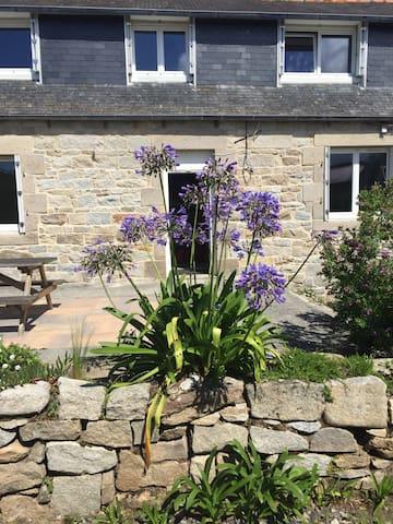 Maison bretonne granit, 100m plage