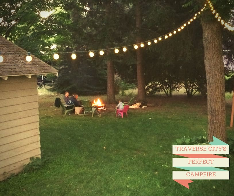 Campfires, s'mores, and memories are forming in our backyard.