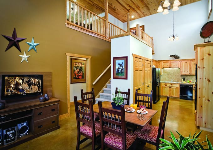 Family Room, Dining Room & Kitchen