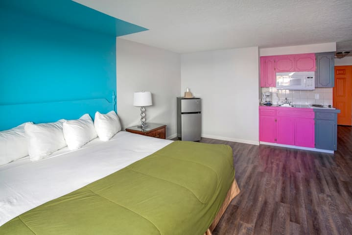 Colorful King bed