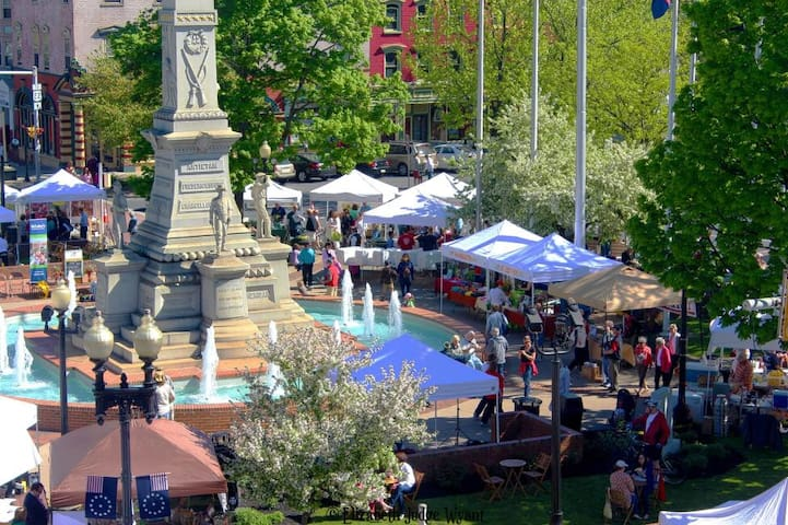 We are located just 2 blocks from the Center Square of Historic Downtown Easton. Home of  Easton Farmers' Market our continuously running since 1752 is the longest operating outdoor market in America. Open May-Nov & select winter dates.