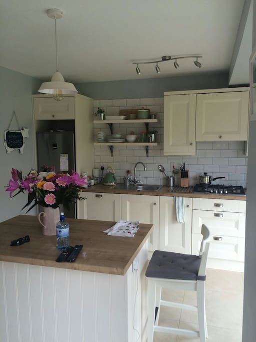 Our funky new kitchen