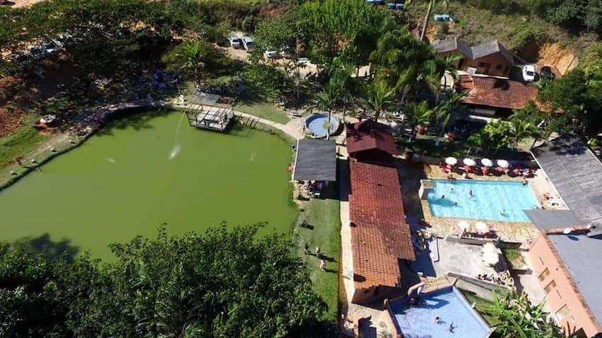 Pousada pesque pague balneário chalé do Carlinho