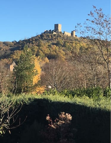 The Chateau Puivert viewed from the garden