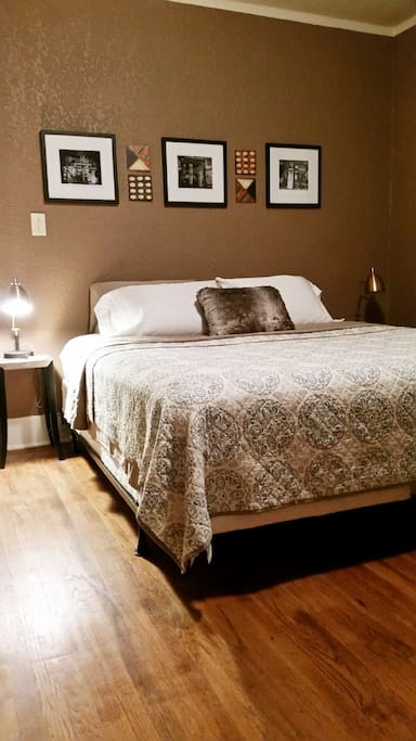 Spacious Master BR with comfy King bed