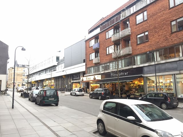 Gentoftegade - showing shops, Cinema and fitness centre