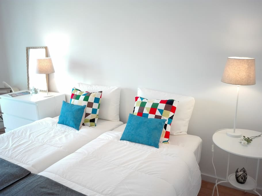 Apartment close to the center and beaches.Bedroom with doble bed