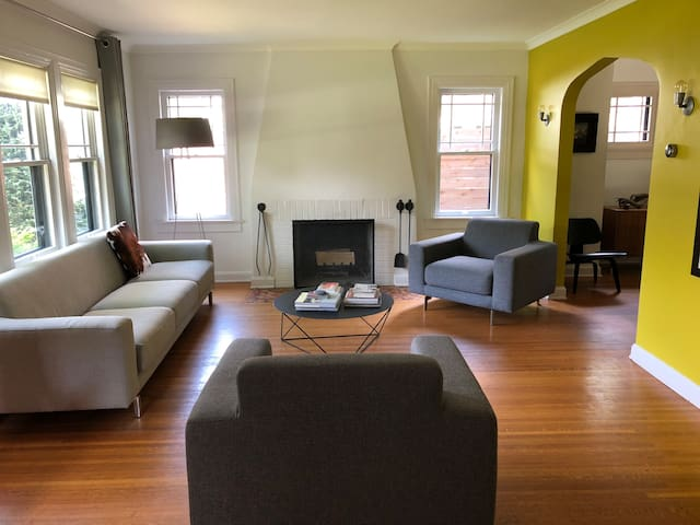 Broad Ripple: Private bedroom and bath, Queen bed