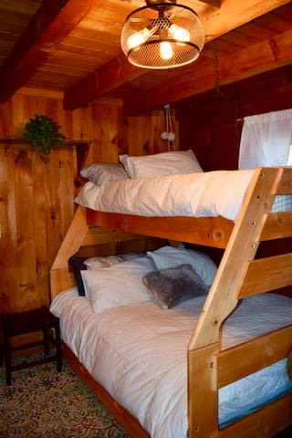 Bunk view from adjustable TV.