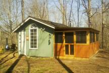 This is the southern side of the cabin