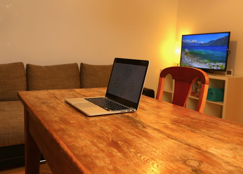 You can use the dining table as a good working place as well!