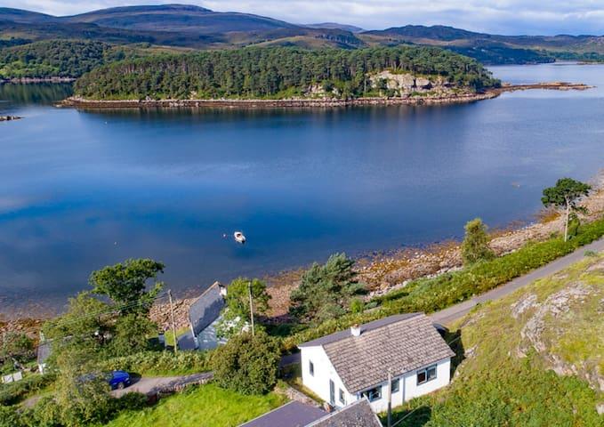 Choirebuidh with stunning view over Loch Shieldaig