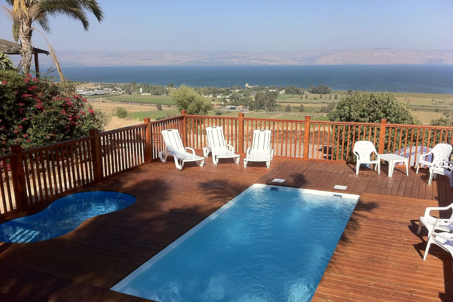 Your pool and views to the Sea of Gallilee