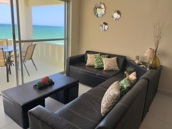 Beachfront apartment at Coral Beach, Chicxulub