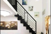 Stair going to the 2nd floor