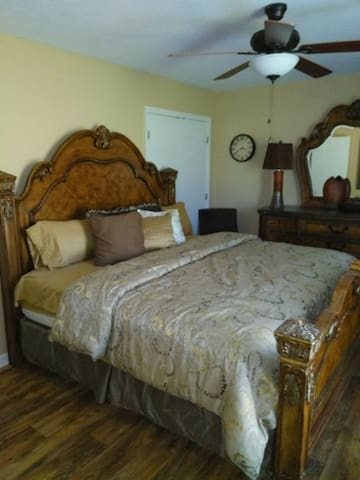 Elegant Cozy Master bedroom w/ a private bathroom.