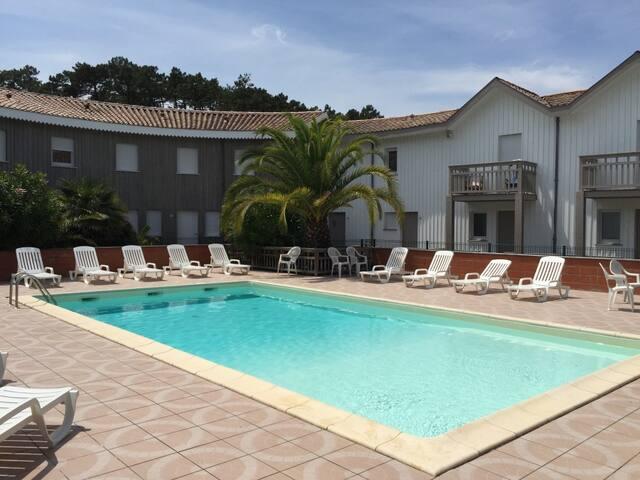 Appt avec terrasse et piscine au Canon/ CAP FERRET - Lège-Cap-Ferret - Apartemen