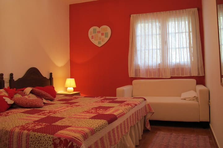 Romantic rural house 35 minutes from beach - Valle de San Roque - Huis
