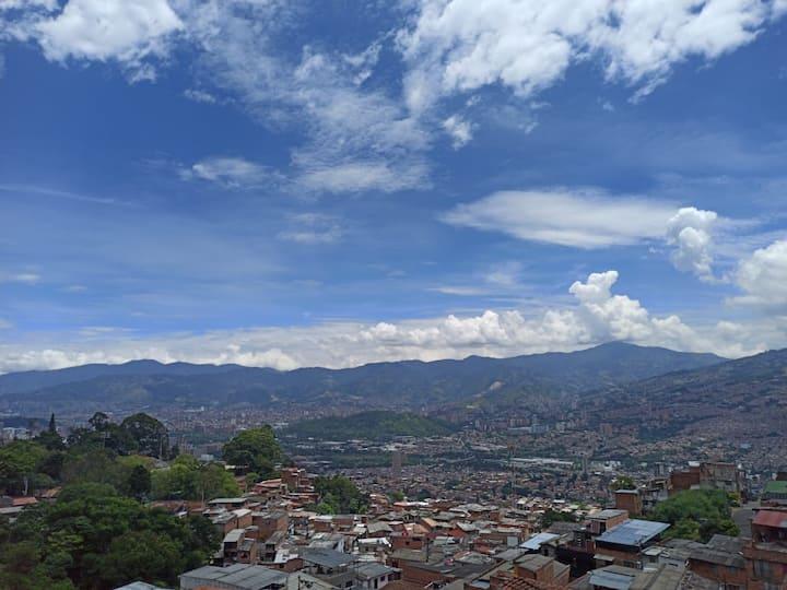 3 Habitación privada con la mejor vista a Medellin