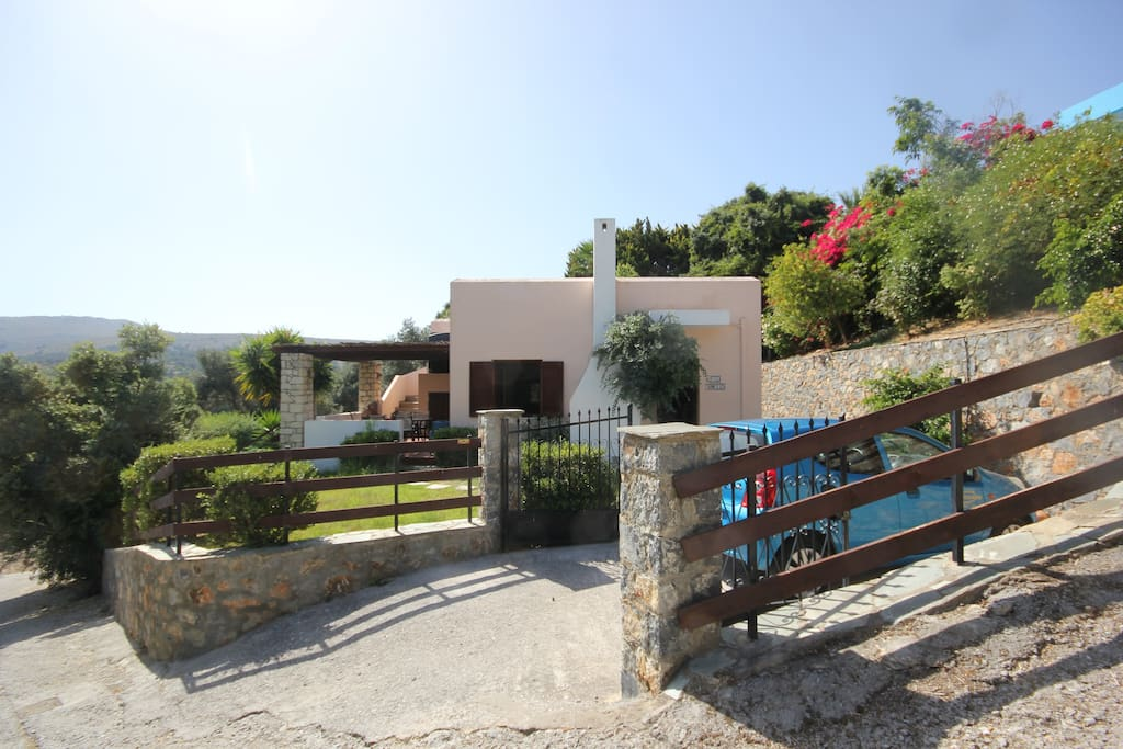 Villa has beautiful gardens with its own gated drive and parking.
