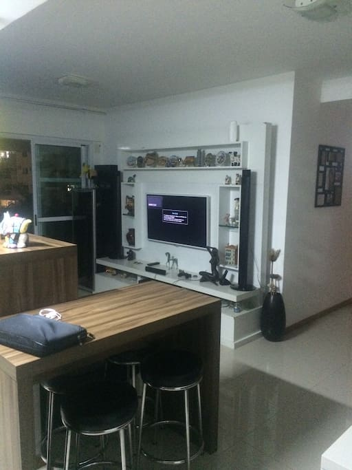 Kitchen and TV Room