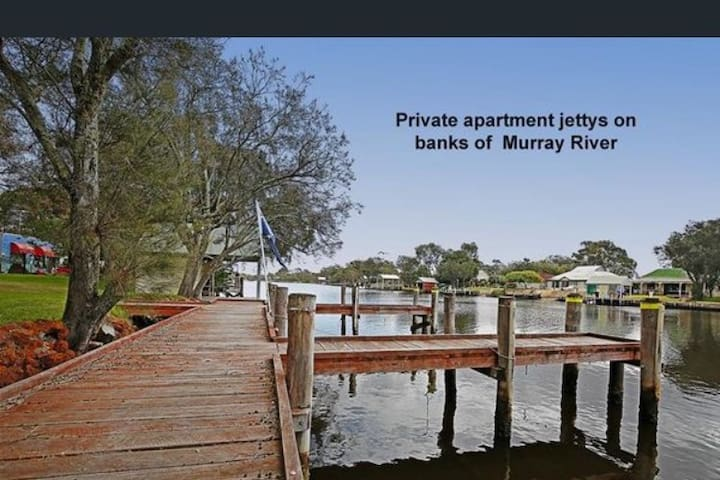Paradise on the Murray - river apartment.
