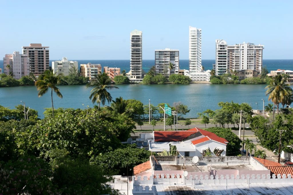 """View of the Condado area from our building's """"mirador"""" rooftop."""