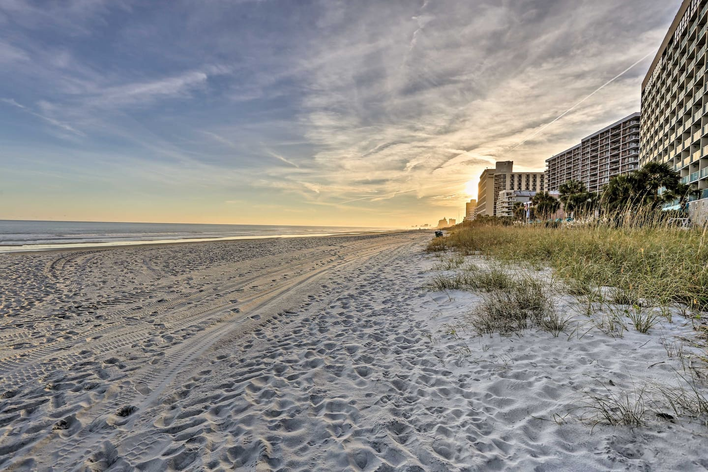 Find your beach at this 1-bed, 1-bath Sand Dunes Resort vacation rental condo.