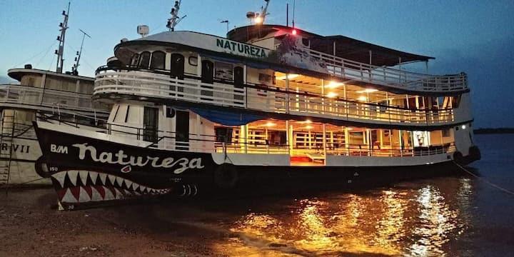 Navio Natureza Turismo Santarém-Alter do Chão-Pará