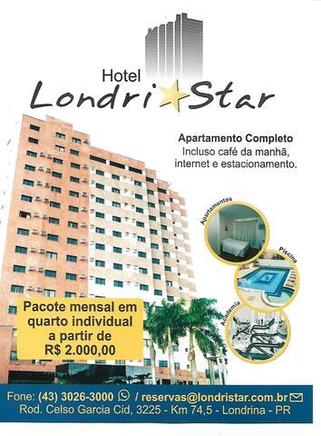 Hotel Londristar - Diárias a partir de R$130