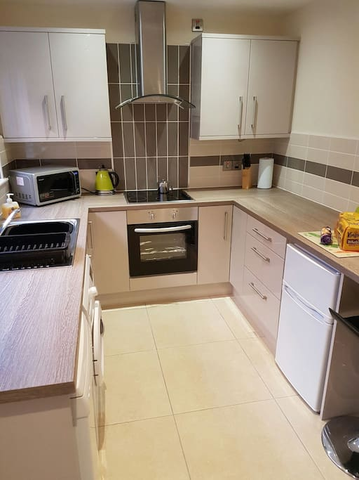 brand new installed high quality German kitchen with modern appliances