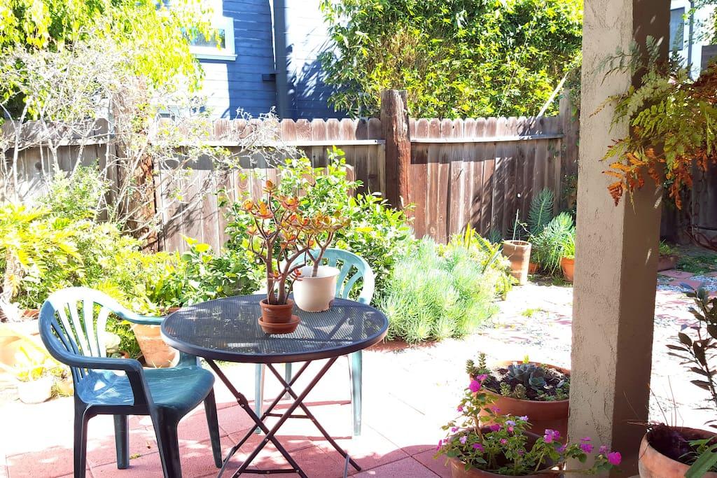 Outdoor patio.