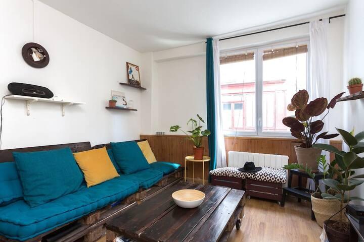 Appartement 30m2, calme et spacieux dans le 18ème