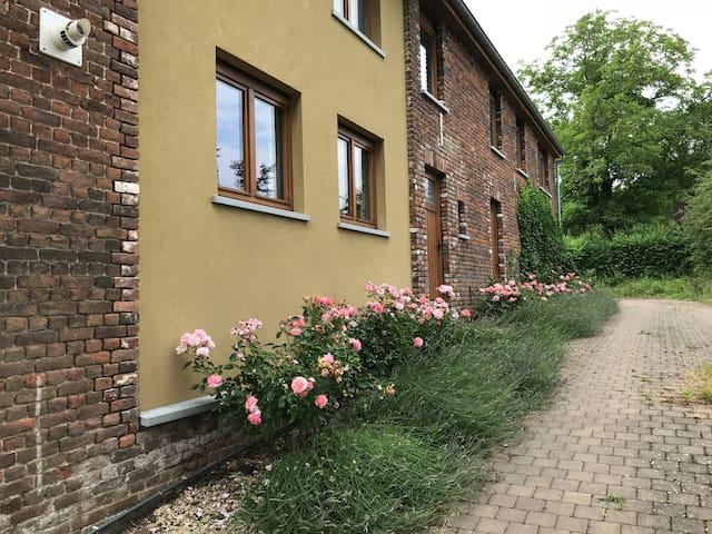 Newly restored duplex in courtyard farm