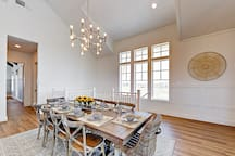 Dining area opens to the kitchen and living room, ideal for spending time together.