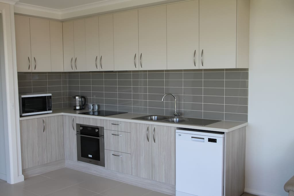Fully functional kitchen with fridge